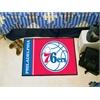 "FANMATS NBA - Philadelphia 76ers Uniform Inspired Starter Rug 19""x30"""