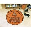 """FANMATS Texas State Basketball Mat 27"""" diameter"""