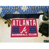 "FANMATS Atlanta Braves Baseball Club Starter Rug 19""x30"""