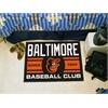 "FANMATS Baltimore Orioles Baseball Club Starter Rug 19""x30"""