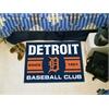 "FANMATS Detroit Tigers Baseball Club Starter Rug 19""x30"""