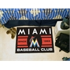 "FANMATS Florida Marlins Baseball Club Starter Rug 19""x30"""