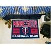 "FANMATS Minnesota Twins Baseball Club Starter Rug 19""x30"""