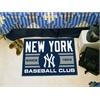 "FANMATS New York Yankees Baseball Club Starter Rug 19""x30"""