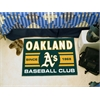 "FANMATS Oakland Athletics Baseball Club Starter Rug 19""x30"""