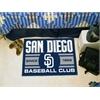 "FANMATS San Diego Padres Baseball Club Starter Rug 19""x30"""