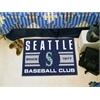 "FANMATS Seattle Mariners Baseball Club Starter Rug 19""x30"""
