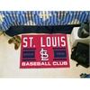 """FANMATS St Louis Cardinals Baseball Club Starter Rug 19""""x30"""""""