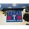 "FANMATS Texas Rangers Baseball Club Starter Rug 19""x30"""
