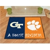 "FANMATS Georgia Tech / Clemson House Divided Rug 33.75""x42.5"""