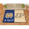 "FANMATS Notre Dame  /  Purdue House Divided Rug 33.75""x42.5"""