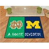 "FANMATS Notre Dame / Michigan House Divided Rug 33.75""x42.5"""