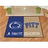 "FANMATS Penn State / Pittsburgh House Divided Rug 33.75""x42.5"""