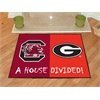 "FANMATS South Carolina / Georgia House Divided Rug 33.75""x42.5"""