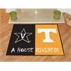 """FANMATS Vanderbilt / Tenneessee House Divided Rug 33.75""""x42.5"""""""