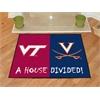 """FANMATS Virginia Tech / Virginia House Divided Rug 33.75""""x42.5"""""""