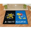 "FANMATS Wichita State / Kansas House Divided Rug 33.75""x42.5"""