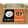 "FANMATS NFL - Pittsburgh Steelers/Cincinnati Bengals House Divided Rugs 33.75""x42.5"""