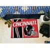 "FANMATS Cincinnati Uniform Inspired Starter Rug 19""x30"""