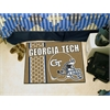 "FANMATS Georgia Tech Uniform Inspired Starter Rug 19""x30"""