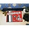 "FANMATS Georgia Uniform Inspired Starter Rug 19""x30"""