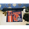 "FANMATS Illinois Uniform Inspired Starter Rug 19""x30"""