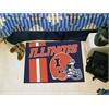 "FANMATS Illinois Uniform Inspired Starter Rug 19""x30"""