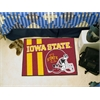 "FANMATS Iowa State Uniform Inspired Starter Rug 19""x30"""
