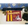 "FANMATS Iowa State Uniform Inspired Starter Rug 19""x30"""