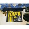 "FANMATS Iowa Uniform Inspired Starter Rug 19""x30"""
