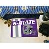 "FANMATS Kansas State Uniform Inspired Starter Rug 19""x30"""