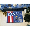 "FANMATS Kansas Uniform Inspired Starter Rug 19""x30"""