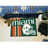 "FANMATS Miami Uniform Inspired Starter Rug 19""x30"""