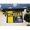 "FANMATS Michigan Uniform Inspired Starter Rug 19""x30"""