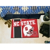 "FANMATS NC State Uniform Inspired Starter Rug 19""x30"""