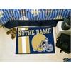 "FANMATS Notre Dame Uniform Inspired Starter Rug 19""x30"""