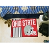 "FANMATS Ohio State Uniform Inspired Starter Rug 19""x30"""