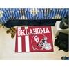 "FANMATS Oklahoma Uniform Inspired Starter Rug 19""x30"""
