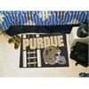 "FANMATS Purdue 'Train' Uniform Inspired Starter Rug 19""x30"""