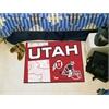 """FANMATS Utah Uniform Inspired Starter Rug 19""""x30"""""""