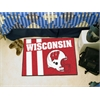 "FANMATS Wisconsin Uniform Inspired Starter Rug 19""x30"""