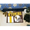 "FANMATS Wyoming Uniform Inspired Starter Rug 19""x30"""
