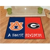 "FANMATS Auburn - Georgia House Divided Rug 33.75""x42.5"""