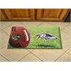 """FANMATS NFL - Baltimore Ravens Scraper Mat 19""""x30"""" - Ball"""