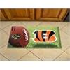 """FANMATS NFL - Cincinnati Bengals Scraper Mat 19""""x30"""" - Ball"""