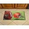 """FANMATS NFL - Cleveland Browns Scraper Mat 19""""x30"""" - Ball"""