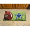 "FANMATS NFL - Dallas Cowboys Scraper Mat 19""x30"" - Ball"