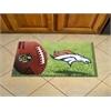 "FANMATS NFL - Denver Broncos Scraper Mat 19""x30"" - Ball"