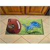 """FANMATS NFL - Detroit Lions Scraper Mat 19""""x30"""" - Ball"""