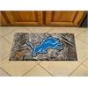 """FANMATS NFL - Detroit Lions Scraper Mat 19""""x30"""" - Camo"""